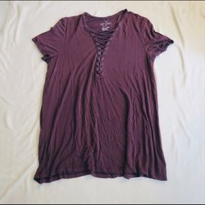 American Eagle Lace Up Tshirt